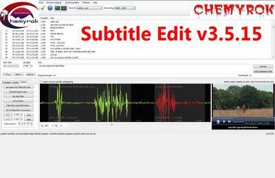 Subtitle Edit v3.5.15 Multilenguaje (Español) + Portable, Editor de Subtítulos de Video