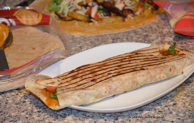 maxi tacos Lyonnais viande kofté et hmiss(salade de poivron)