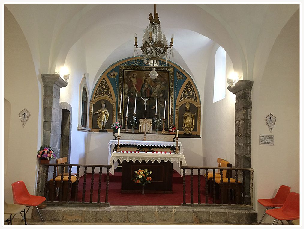 Saint Julien du Verdon  la chapelle Notre Dame retrouve son clocher