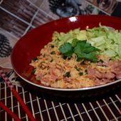 Riz frit au Kimchi & au Nem Chua - Graine d'Epices