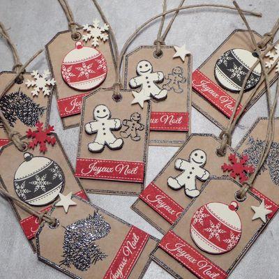 Etiquettes de Noël Florilèges Design