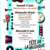 Le programme complet de la Fête de la Musique - Le blog officiel de la ville de Berck-sur-Mer