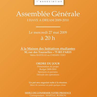 Assemblée Générale de l'association mercredi 27 mai