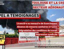 Appel à témoignage de travailleurs de l'aéronautique. Refusons les licenciements, nous ne paierons pas la crise !