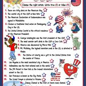 How much do you know about the USA? worksheet