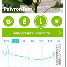 Première notification de l'application Parrot Flower Power