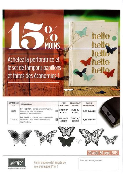 Promo papillons