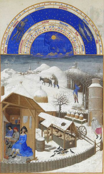 """February"" from the calendar of Les Très Riches Heures du duc de Berry, 1412-1416"