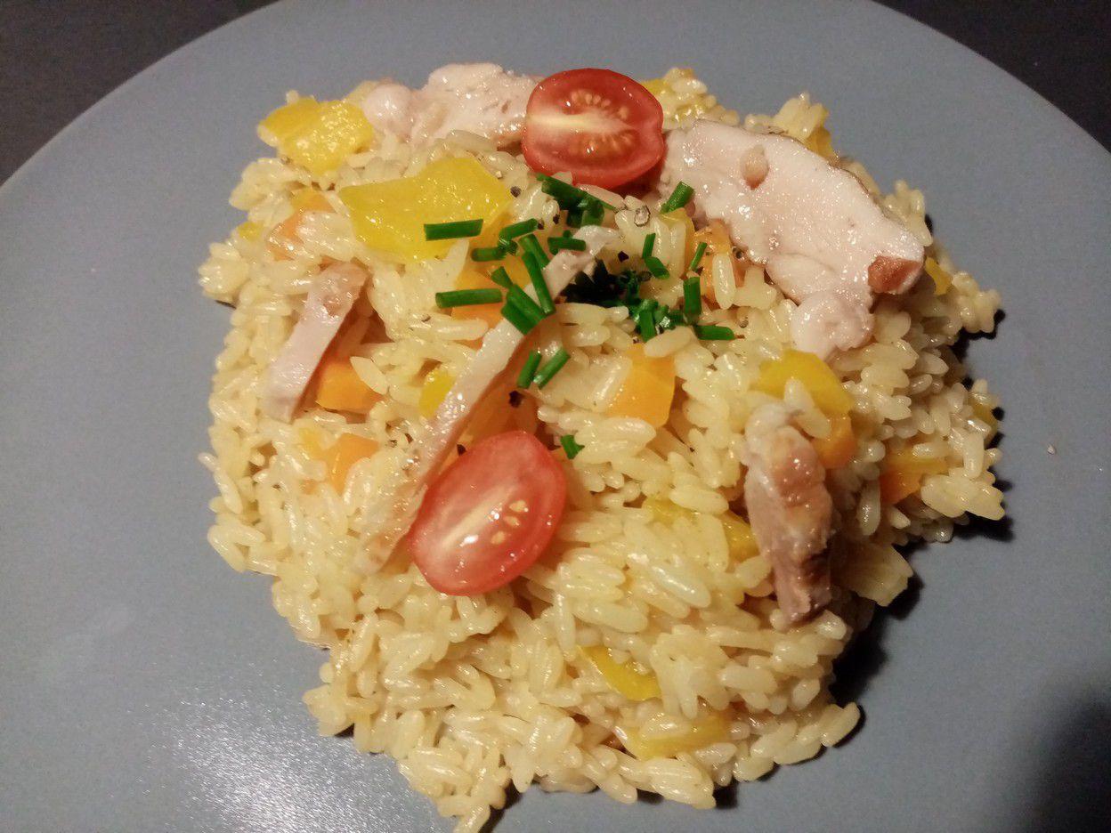 Riz aux poivrons et carottes au cookéo