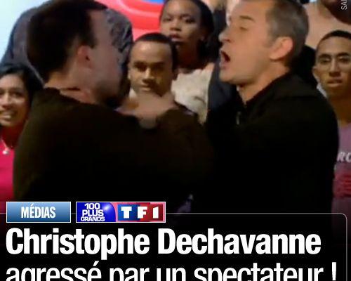 Christophe Dechavanne agressé par un spectateur !