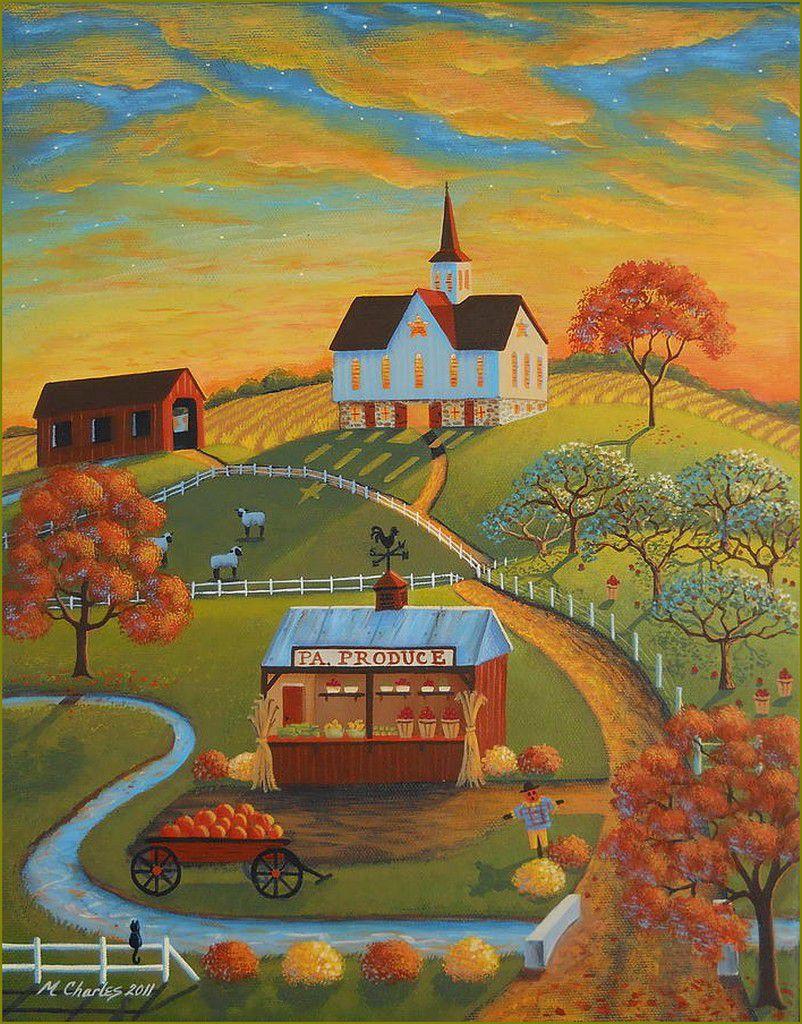 Automne par les grands peintres-  Mary Charles