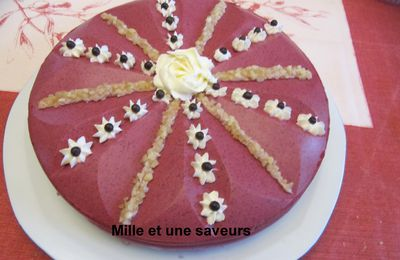 entremet fruits rouge et pistache