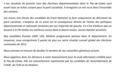 Objectif : doubler notre nombre d'élus au sein du conseil départemental du Pas-de-Calais