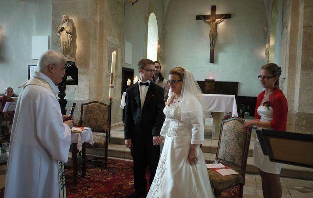 Le bonheur d'être témoin privilégié de l'Amour d'un couple et de présider la célébration de mariage