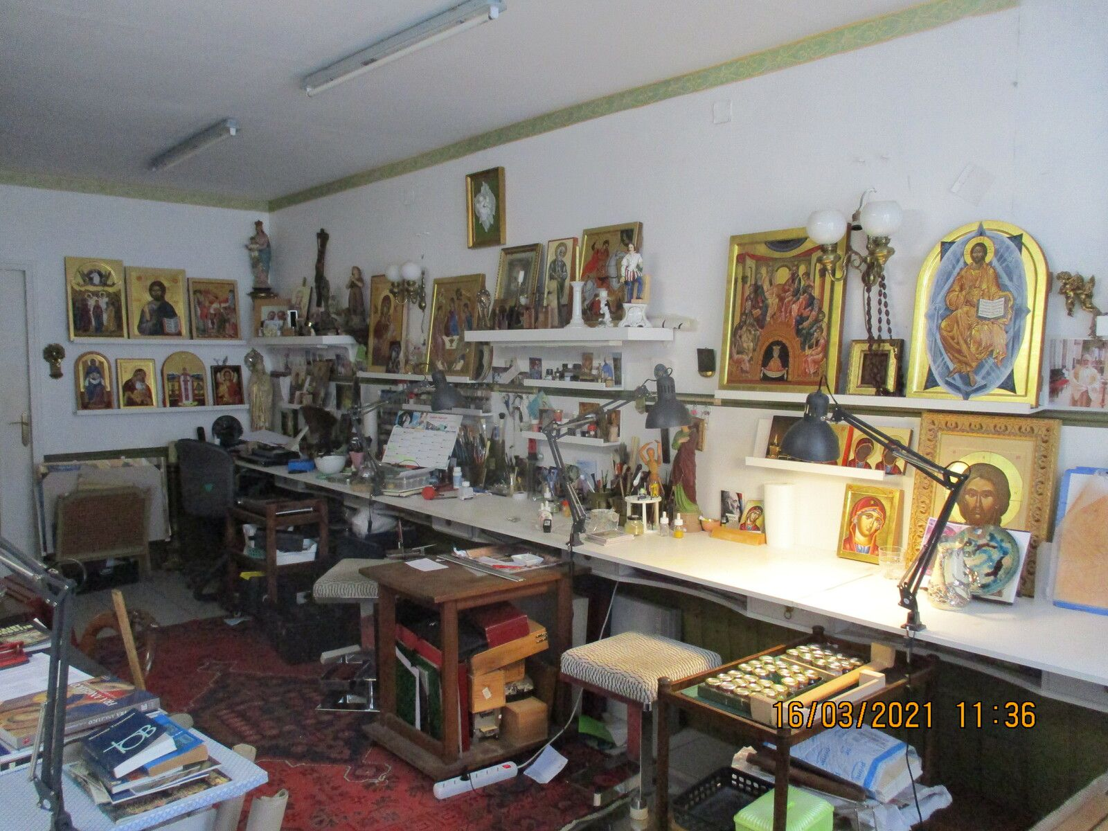 atelier iconographie  a l ile bouchard 37220  /tours.chinon