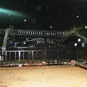 El festival Piria Music terminó mal: el viento derrumbó el escenario y hubo heridos leves