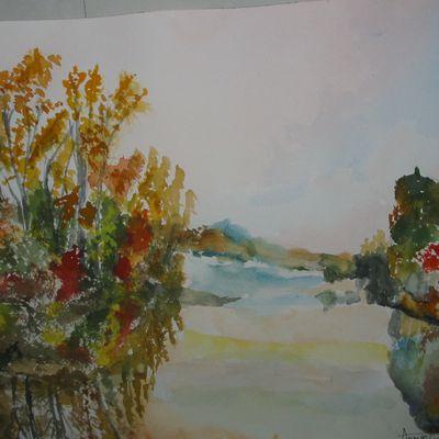 Une dernière aquarelle ...colorée