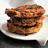 Galettes de patates douces-courgettes { sans gluten, sans lait, sans œufs} - Allergique Gourmand