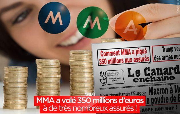 MMA a volé 350 millions d'euros à de très nombreux assurés ! #MMA