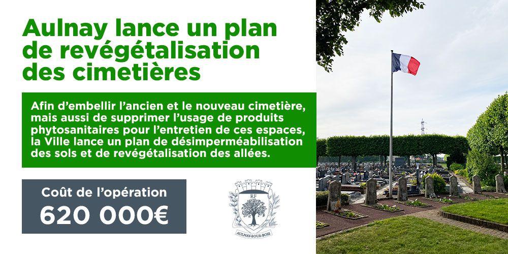 620 000 euros pour l'embellissement des cimetières à Aulnay-sous-Bois