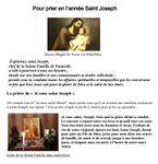 POUR PRIER EN L'ANNEE SAINT JOSEPH
