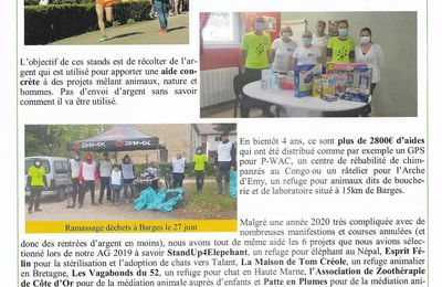 Article bulletin municipal de Barges 2021