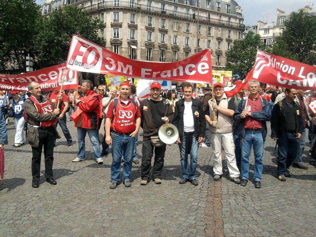Quelques photos de la manifestation parisienne du 15 juin 2010 pour la défense des retraites. 3M Beauchamp et Tilloy ensemble dans la manif