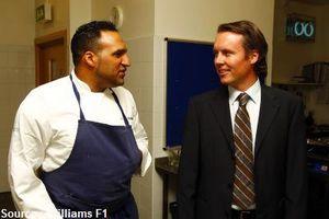 Williams confie ses repas au chef Michael Caines