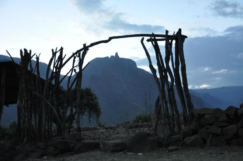 Ethiopie, monts Simien, camp de Mekarebya, 2000 m