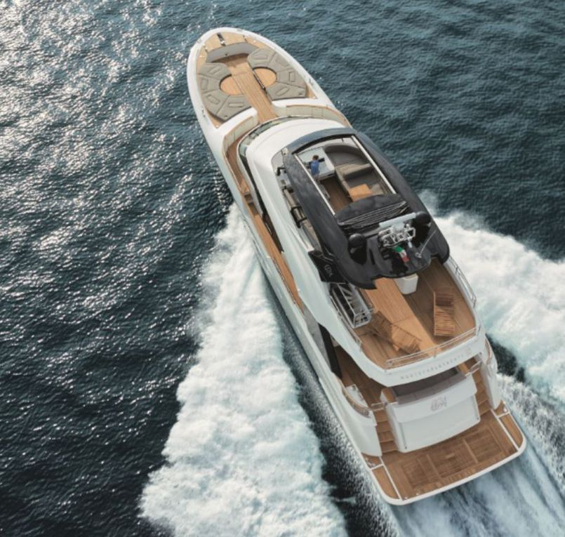 MCY 80, the sixth vessel of the Monte Carlo Yachts range