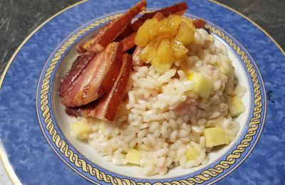 Le risotto pommes et bacon de Food wars
