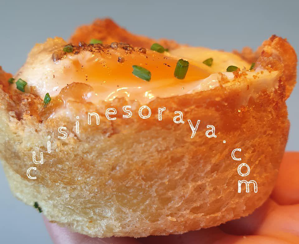Oeuf cocotte dans son pain de mie