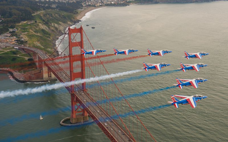 PAF US Tour : La Patrouille de France survole la mythique San Francisco