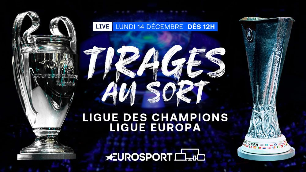 Champions League & League Europa - Les tirages au sort des Coupes d'Europe de football en direct ce lundi sur Eurosport