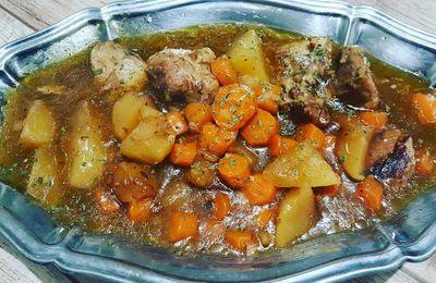 Sauté de porc, pommes de terre et carottes au Cookéo