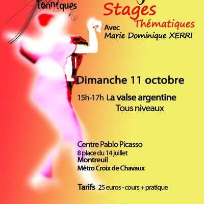 Stage La valse argentine 11 octobre