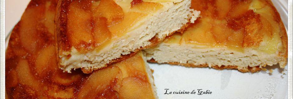 Gateau au yaourt léger et pommes caramélisées