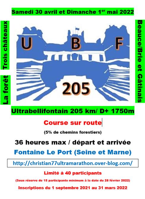 2022 : l'année de l'UBF205#1, reculer pour mieux...courir!
