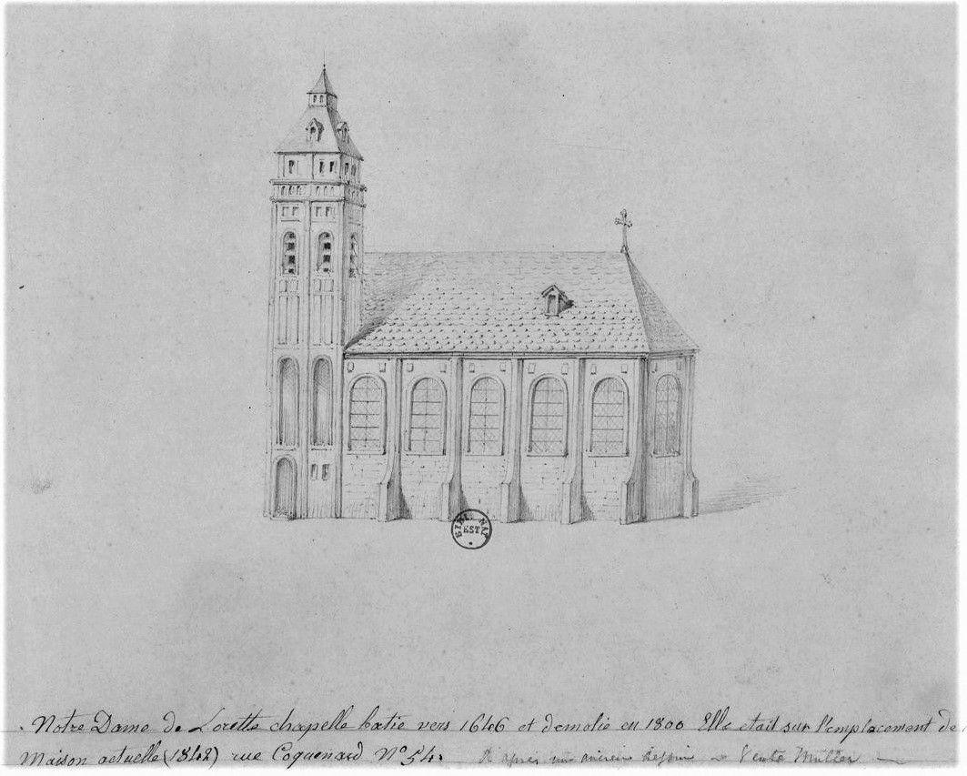 Rue Lamartine. Le bas Montmartre. chapelle Notre Dame de Lorette. Hittorff, Baudelaire...