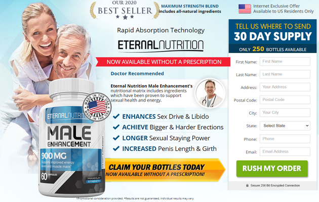 Eternal Nutrition Male Enhancement : Perks You Up & Keeps You Harder!