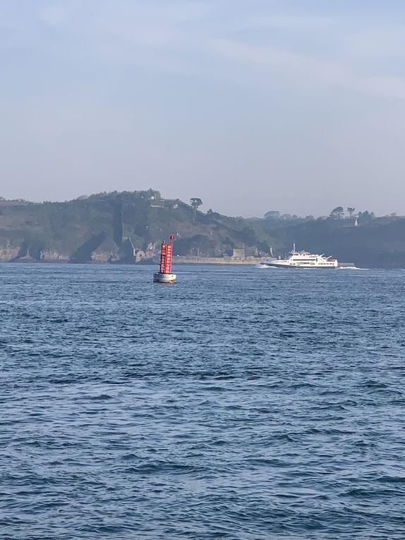 Le port du moulin blanc et la rade de Brest