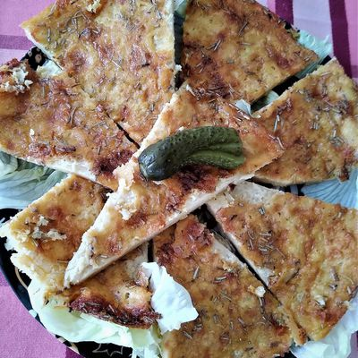 Farinata (galette de pois chiches).