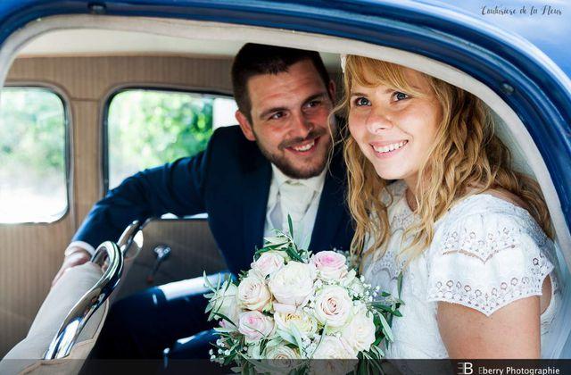 Mariage champêtre au Mas de Baumes par Couturière de la Fleur