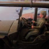 JEEP WILLYS AVEC CANON DE 106 S.R AMOVIBLE ET CONDUCTEUR DINKY TOYS 1/43 - car-collector.net