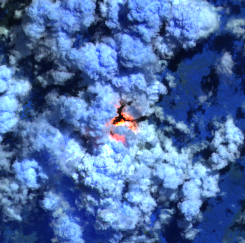 Nyiragongo - image Sentinel-2 bands 12.11 8A from 22.05.2021 / 8:06 am - via Mounts project