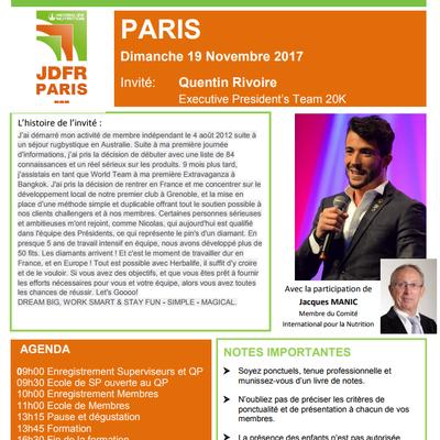 Réunion Formation et Recrutement HERBALIFE - Paris 19 Novembre 2017