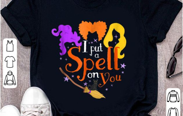 Top I Put A Spell On You Halloween Witch Sisters shirt