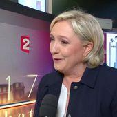 """Débat de l'entre-deux-tours : à son arrivée, de Marine Le Pen dit vouloir """"un débat utile pour les Français"""""""