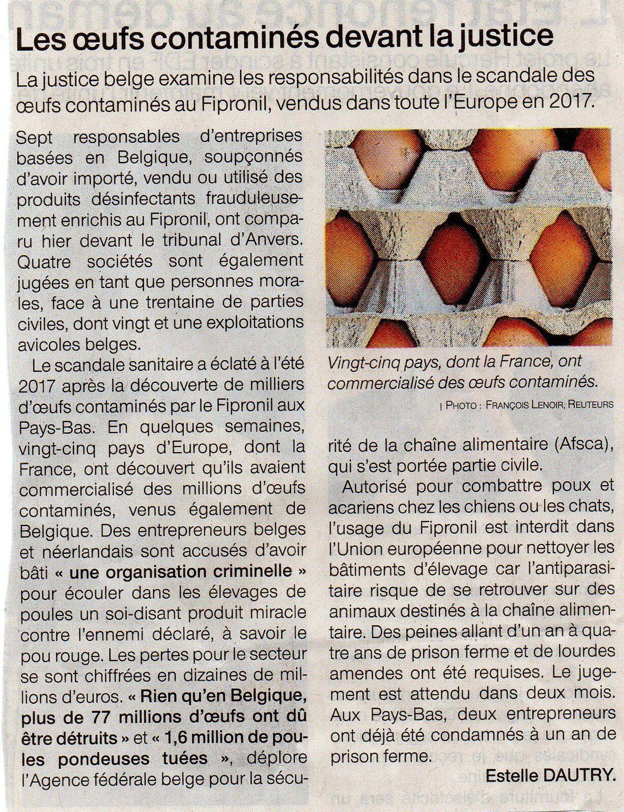 Article paru dans Ouest-France du 24 avril 2021
