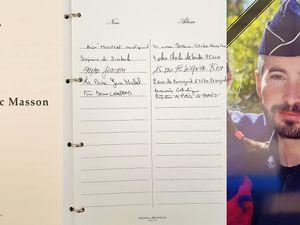 Registre des hommages au Brigadier Eric MASSON ce mardi 11 mai à la Préfecture de Police de Paris